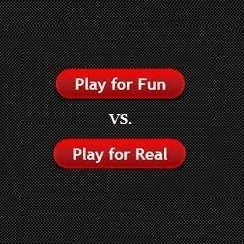image of playing for free or for real money from Canadian mobile casinos