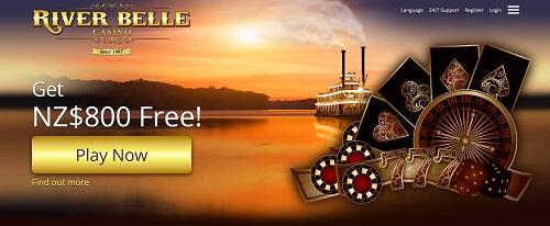 image of river belle casino homepage top NZ casino