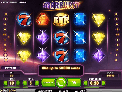 Starburst slot review NZ