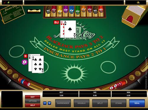 how atlantic city blackjack works